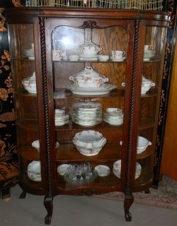 curved glass china cabinets in Cabinets & Cupboards