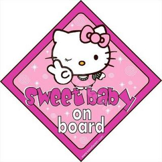 Kitty Baby on BOARD Car Sticker   Window Decal car sign Child Kids