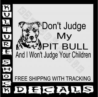 PITBULL, DOG , DECAL, TRUCK, CAR, PET, DOG, VINYL, RESCUE, BREED