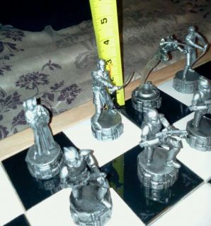 STAR WARS CHESS SET w/ CUSTOM OAK TRIM BOARD