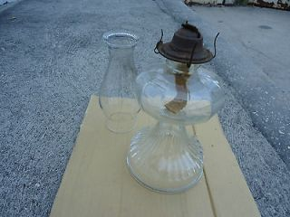 Vintage P&A Eagle Claw Foot Kerosene Oil Lamp with Reflector
