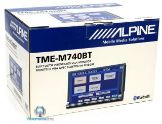 CLEARANCE TME M740BT ALPINE 7 DOUBLE DIN IN DASH TOUCHSCREEN MONITOR