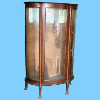 china cabinet curved glass in Antiques