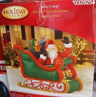 SANTA WAVING IN SLEIGH W/ PRESENTS CHRISTMAS 6.5 AIRBLOWN INFLATABLE