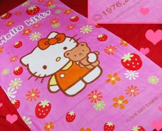 Hello Kitty Bath Room Beach Wash Cloth Kids Towel