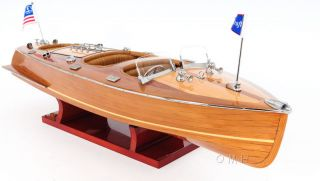 Chris Craft Triple Cockpit Runabout Wooden Model 24 Classic Mahogany