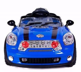 Ride On Car Electric Power Wheel Kids W/  Remote Control RC Blue 2
