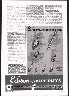 Automobile Edison Spark Plugs Motorcycles Cars Diesel Engines Hammer