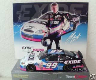 Burton 99 EXIDE BATTERIES 1/24 Team Caliber Preferred NASCAR diecast