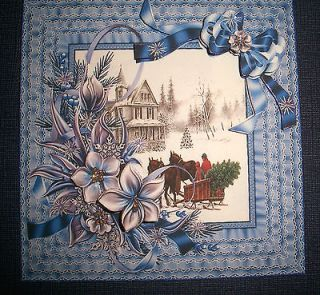 Handmade Greeting Card Christmas 3D With A Christmas Scene Sentiment