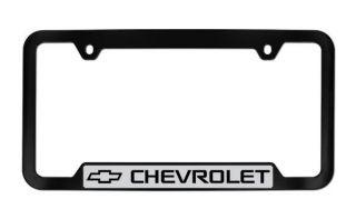 Chevrolet Black Coated Plastic License Plate Frame Plate Holder