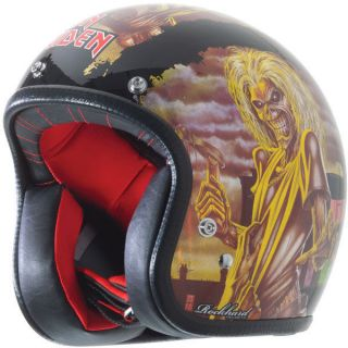 Rockhard American Classic Custom 500 3/4 Helmet Iron Maiden Medium