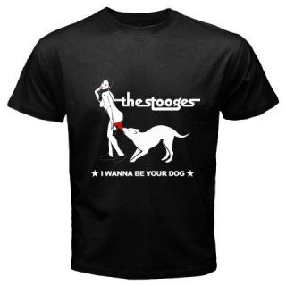 New Iggy and the Stooges Punk Rock Band Mens Black T Shirt Size S 2XL