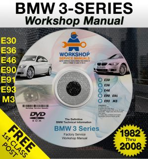BMW 3 Series Workshop Service Repair Manual E30 E36 E46 E90 E91 E93 M3