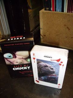 Chucky Doll playing cards new & sealed in box from the Seed Of Chucky