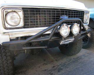 FRONT WINCH BUMPER FITS CHEVY GMC K5 BLAZER & TRUCK 1968 1972 ONLY
