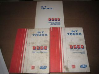 1994 Chevrolet S 10 Blazer GMC Jimmy Sonoma shop service repair manual