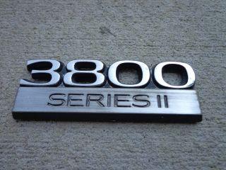 OEM Factory Genuine Stock Buick Regal 3800 Series II emblem badge
