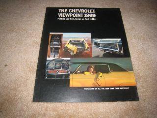 1969 Chevrolet Corvette Camaro Chevelle Nova Caprice sales brochure