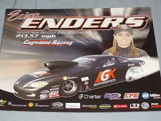 2012 ERICA ENDERS GK MOTORSPORTS CHEVY COBALT PRO STOCK NHRA POSTCARD