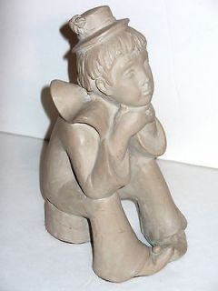 Austin Prod Inc 1980 Boy Clown Sculpture