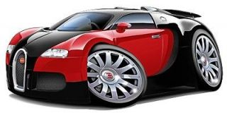 Bugatti Veyron Classic Car Cartoon Tshirt FREE