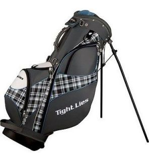 ADAMS LADIES BLACK BLUE DUAL STRAP WOMENS PLAID STAND LIGHT GOLF BAG