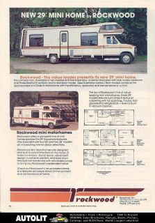1983 Rockwood Chevrolet Mini Motorhome RV Ad