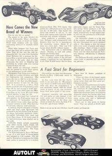 1965 Monogram 1/24 Lola GT40 Ferrari Slot Car Brochure