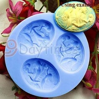 Mermaid Angel 3 Cavities Silicone Mold Mould For Polymer Clay Fimo