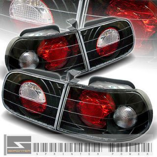 92 95 HONDA CIVIC 3DR HATCHBACK JDM BLACK ALTEZZA TAIL LIGHTS REAR
