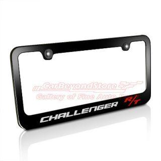 Dodge Challenger R/T Black Metal License Plate Frame, Licensed + Free