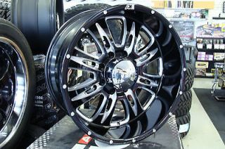 20 Eagle Alloy 016 Black Wheels 20x10 8x6.5 8x170 Ford F250 Dodge