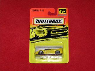 Matchbox Diecast Cars 1997 on Card MOC   # 75 Ferrari F 50 SuperFast
