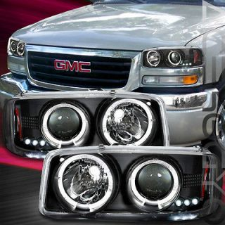 GMC Sierra/Yukon Black Halo Projector Headlights/Bum​per Signal