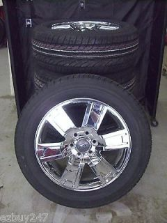 20 FORD EXPEDITION F150 FACTORY STYLE CHROME WHEELS GOODYEAR TIRES