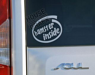 hamster inside logo sticker decal decals fits Kia Soul