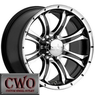 17 Black Devino Kraken Wheels Rims 5x127 5 Lug Chevy GMC C1500 Jeep