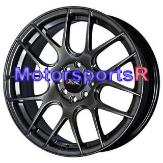 Chromium Black Concave Rims Wheels 4x100 93 96 Honda Civic Prelude SI