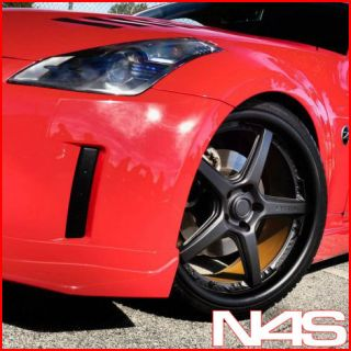 BRAND NEW 20 NISSAN 350Z VERTINI DRIFT MATTE BLACK STAGGERED WHEELS