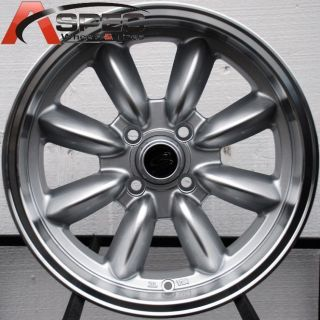 15X7 ROTA RB 4X100 +35 ROYAL SILVER WHEEL FITS YARIS MIATA XB XA VERSA