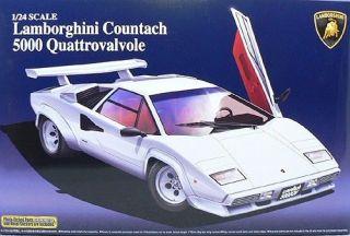 Aoshima 1/24 Lamborghini Countach 5000QV Car Model Kit   unasembled