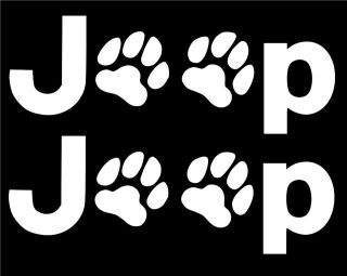 TWO 8 JEEP PAWS LOGOS STICKER/DECAL WRANGLER 4X4