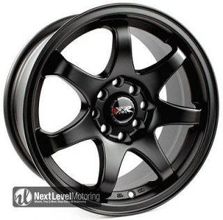 15 15x7 4X100 +25 FLAT BLACK WHEELS RIMS CIVIC INTEGRA FIT XB SCION