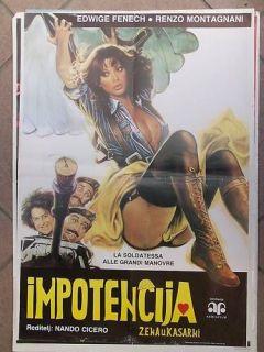 LA SOLDATESSA EDWIGE FENECH YUGO MOVIE POSTER 1978