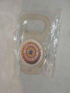 NewCastle Brown Ale Beer Bottle Opener Metal 2 3/8 x 1 3/8 Keychain