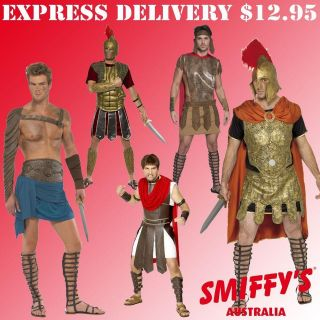 ADULTS MENS ROMAN SOLDIER/WARRIOR/GLADIATOR SMIFFYS FANCY DRESS