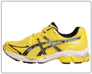 Asics Gel Cumulus 12 Neon Yellow Mesh Black 2011 Mens Running Shoes