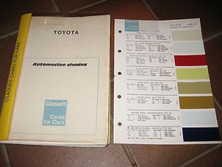 TOYOTA CROWN COROLLA 1000 CARINA CELICA HIACE COLOUR PAINT CHIPS