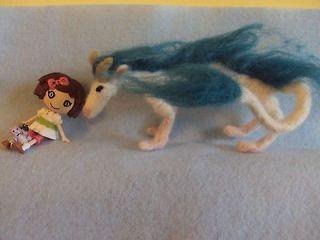 mini spirited away haku needle felted dragon lalaloopsy doll set